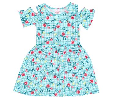 Vestido-Infantil-Abrange-Flores-Verde-e-Vermelho