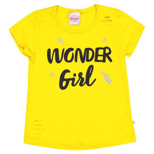 Blusa-Infantil-Abrange-Wonder-Girl-Amarelo