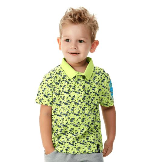 Camiseta-Polo-Primeiros-Passos-Tropical-Verde