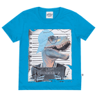 Camiseta-Primeiros-Passos-Abrange-Dinossauro-Azul