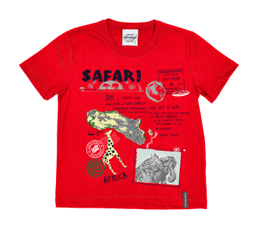 Camiseta-Primeiros-Passos-Abrange-Safari-Vermelho