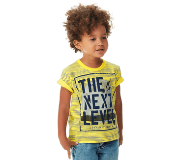 Camiseta-Primeiros-Passos-Abrange-Level-Amarelo