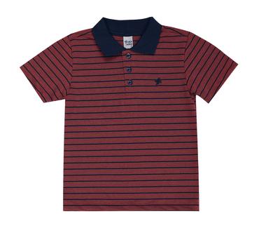 Camiseta-Infantil-Cata-Vento-Polo-Listrado-Vermelho