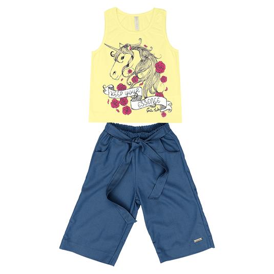 Conjunto-Infantil-Cata-Vento-Unicornio-Amarelo-e-Jeans-Escuro