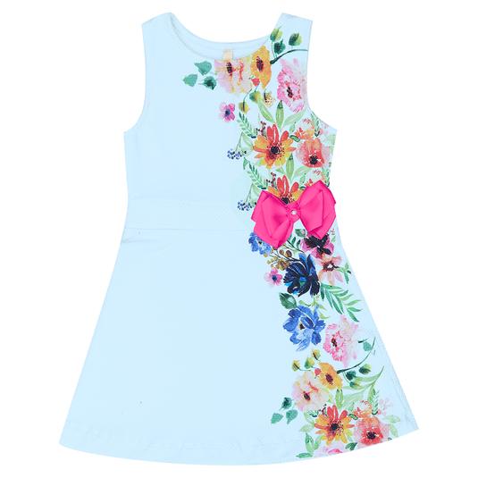 Vestido-Infantil-Cata-Vento-Flores-Azul