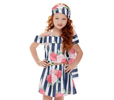 Vestido-Infantil-Cata-Vento-Listras-com-Flores-Azul