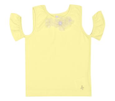 Blusa-Infantil-Cata-Vento-Flores-Amarelo