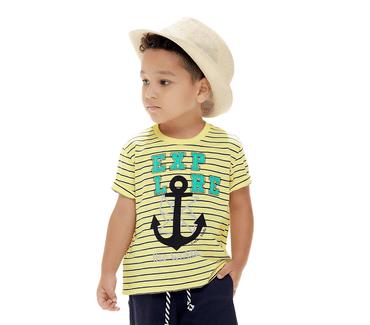 Camiseta-Primeiros-Passos-Cata-Vento-Explore-Navy-Amarelo